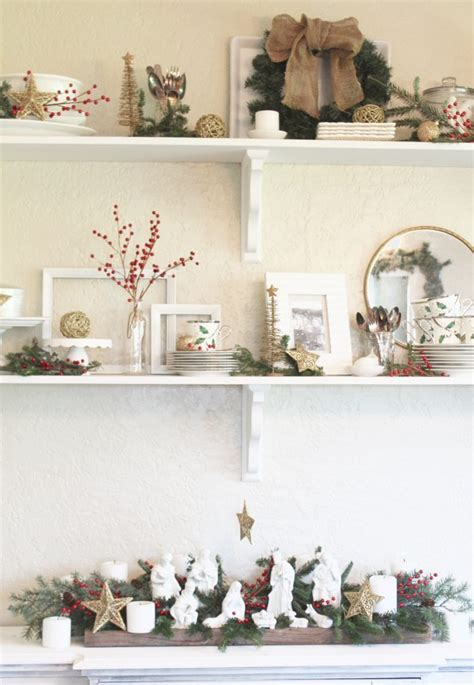 stop staring   stunning christmas shelf