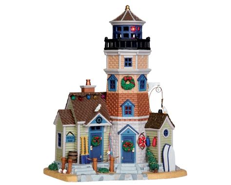 Jim Shore Halloween Disney by Lemax Plymouth Corners Holly Bay Lighthouse Lighted