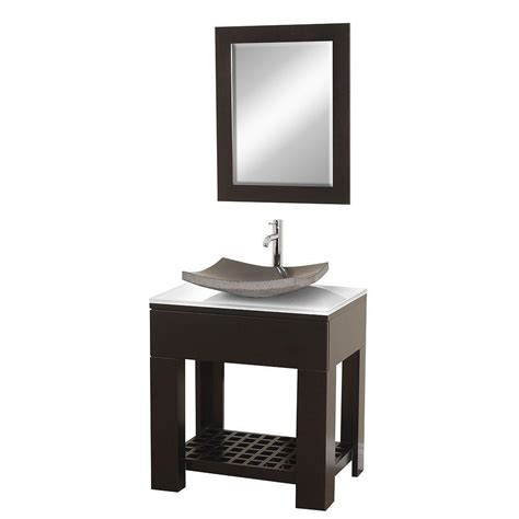 Wyndham Collection Zen 30 in. Vanity in Espresso with