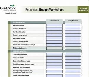 Retirement Budget Worksheet Printable 7 Free Printable Budget Worksheets