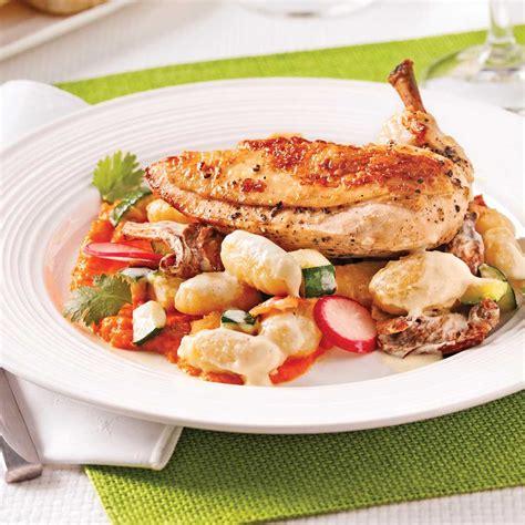 cuisiner les chanterelles suprêmes de poulet de cornouailles gnocchis aux