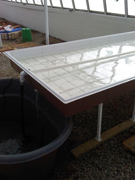 flood and drain table constructing flood and drain tables stonewall jackson