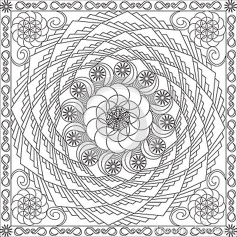 coloring page book  adults square format geometric