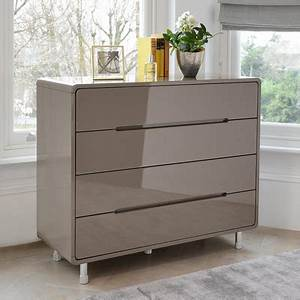 Notch Wide Chest Of Drawers Stone Dwell
