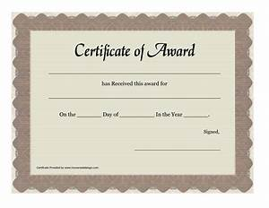 printable prize winner certificate or certificate of award With winners certificate template
