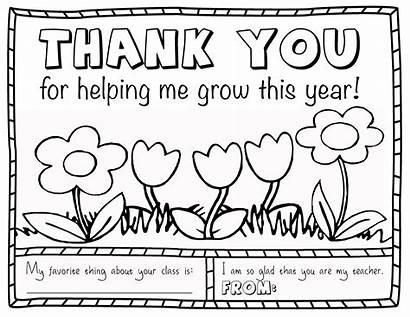 Teacher Coloring Appreciation Question