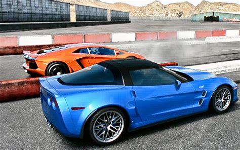 corvette zr  lamborghini aventador drag race youtube