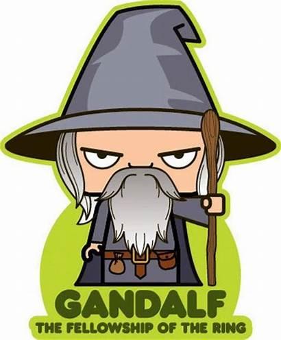 Gandalf Cartoon Lord Rings Tolkien Lotr Iconz