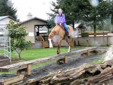 riding  balance beam youtube
