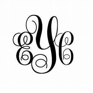 5 inch tall 3 letter monogram initials decal sticker free usa With 5 inch letter stickers