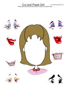 Cut and Paste Face Worksheets