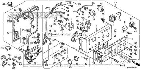 honda eu3000is a a generator jpn vin ezgf 1080001 to ezgf 1499999 parts diagram for