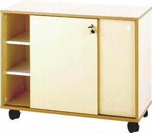 meuble bas mobile portes coulissantes pamplemousse With porte coulissante pour meuble bas