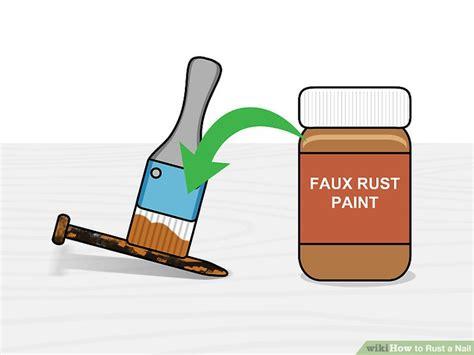 nail rust step iron wikihow dry