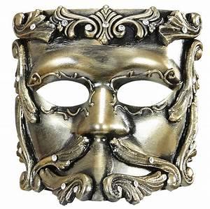 Goldene Casanovamaske Barockstil Kostm24ch