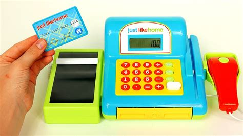 Just Like Home Cash Register Playset Playing With Toys For