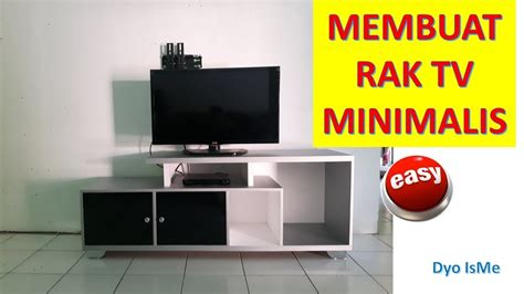membuat rak tv minimalis diy tv rack youtube