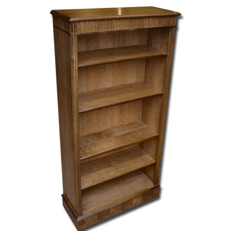 Reproduction Bookcase by Reproduction 5x30 Open Bookcase In Yew Mahogany Oak And