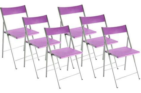 chaises pliantes pas cher lot de 6 chaises pliantes violettes bilbao chaise