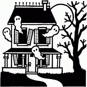 Spooky haunted house - Halloween - Free Printable Coloring ...