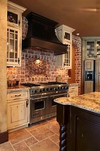 best 25 brick wall kitchen ideas on pinterest exposed With kitchen colors with white cabinets with rustic bathroom wall art