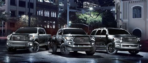 toyota tacoma tundra  sequoia nightshade editions  daily drive consumer guide