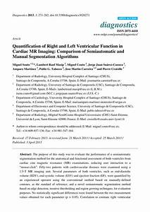Pdf  Quantification Of Right And Left Ventricular
