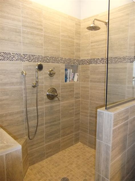 bathroom tile ideas for shower walls 27 nice ideas and pictures of natural stone bathroom wall tiles