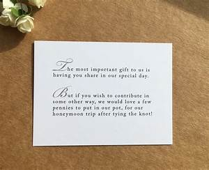 Wedding invitation poem for money honeymoon poem card gift for What to give as a wedding gift