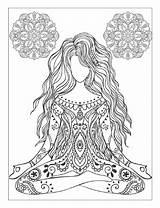 Yoga Coloring Adults Meditation Mandalas Pdf Poses sketch template