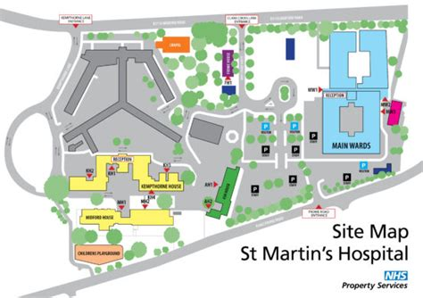 St Martins Site Map  Bath North East Somerset Clinical