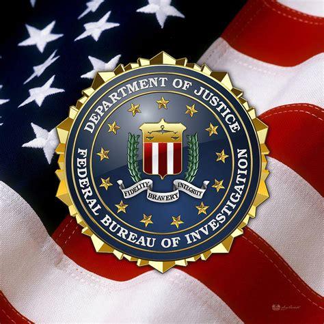 federal bureau of investigation f b i emblem american flag digital by serge averbukh