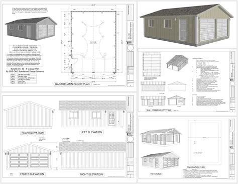 genius garage workshop plans free g529 22 x 30 x 8 garage plans dwg and pdf rv garage plans