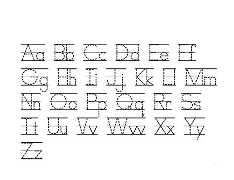 alphabet writing practice printable learning printable