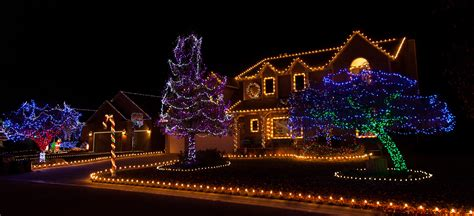 Colorful Christmas Lights On Candy Cane Lane  All The
