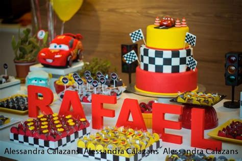 karas party ideas lightning mcqueen cars birthday party
