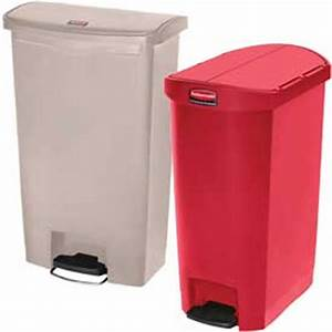Garbage Can & Recycling | Hands Free | Rubbermaid® Slim ...