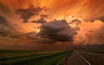 Clouds Cloud Dark Sunset Wallpapers Sky Oklahoma