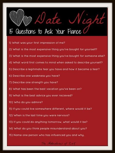 date night  questions    fiance
