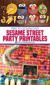 Sesame Street Party Printables Spot Of Tea Designs