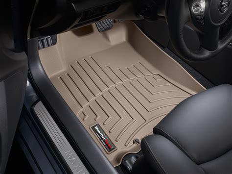weathertech floor mats nissan maxima weathertech floor mats floorliner for nissan maxima 2009 2014 tan ebay