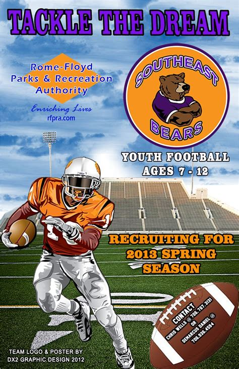 south east bears youth football poster flyers posters