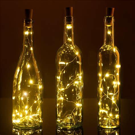 wine bottle led lights set of 3 wine bottle cork lights 32inch 80cm 15 led