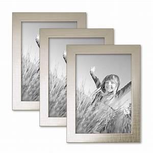 Bilderrahmen 13x18 Silber : 3er set bilderrahmen 13x18 cm silber modern massivholz rahmen mit glasscheibe inkl zubeh r ~ Frokenaadalensverden.com Haus und Dekorationen