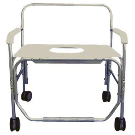 heavy duty shower commode chair with commode opening