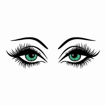 Eye Silhouette Clipart Cuttable Lashes Eyes Lash
