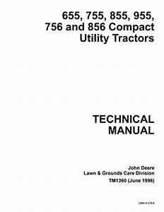 John Deere 655 755 855 955 756 856 Compact Utility Tractor Service Repair Manual By Manualtrucks