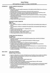 Family Physician Resume Samples