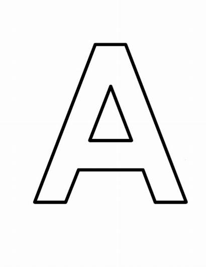 Block Printable Template Letters Letter Alphabet Templates