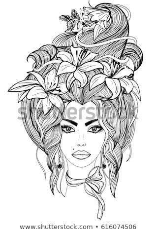 Hand Drawn Illustration Shaman Woman Cloak Stock Vector 612116171 - Shutterstock